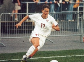USA Woman's World Cup Soccer Team, Julie Foudy